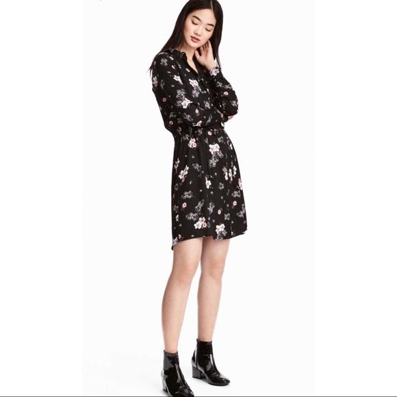 0c5aaced7ba4 H M Dresses   Skirts - 🎉Host Pick🎉 H M Black Floral Shirt Dress